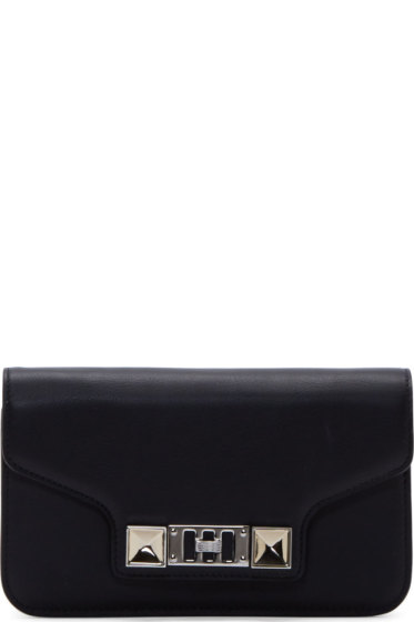 Proenza Schouler - Black Leather PS11 Chain Wallet