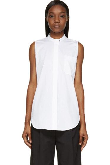 Proenza Schouler - White Cotton Sleeveless Piquet Shirt