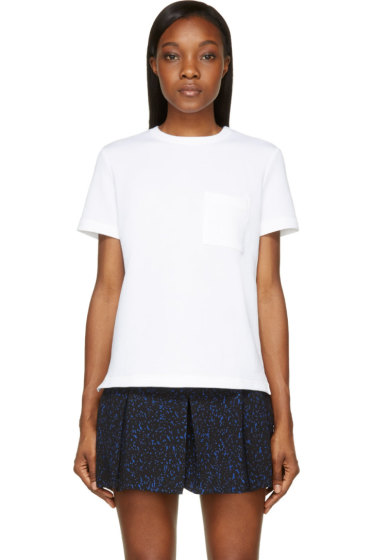 Proenza Schouler - White Boxy Pocket Short Sleeve T-Shirt