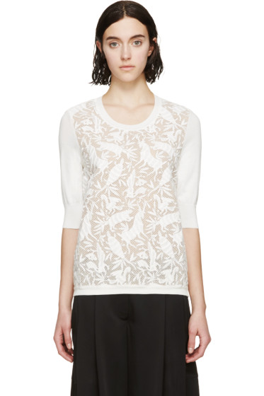 Chloé - Ivory Embroidered Animal Sweater