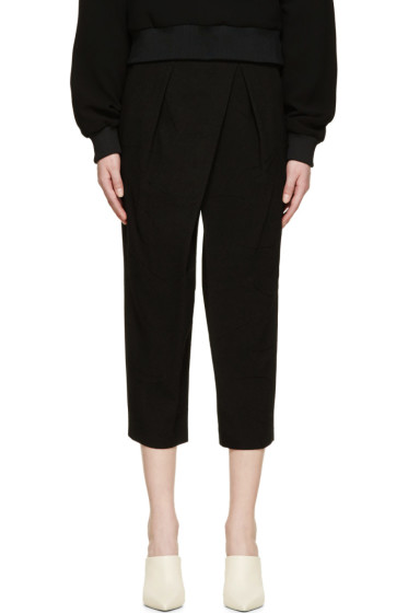 Chloé - Black Asymmetrical Textured Trousers