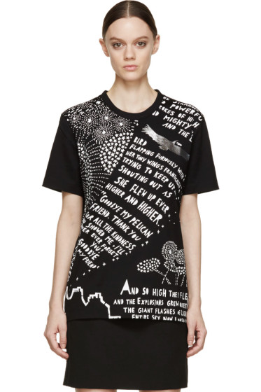 Juun.J - Black & White Tiny Bird Rob Ryan Edition T-Shirt