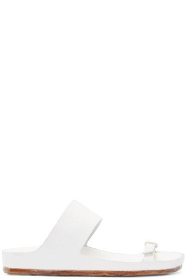 Officine Creative - White Flat Sandals