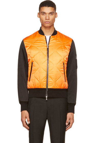 Neil Barrett - Orange & Black Bomber Jacket