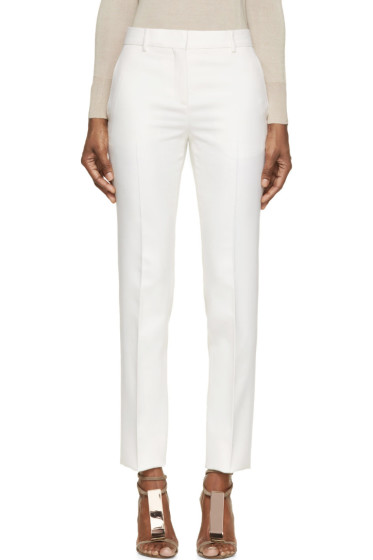 Burberry Prorsum - Ivory Tuxedo Trousers