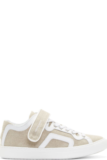 Pierre Hardy - Natural Linen & Leather La Tennis Sneakers