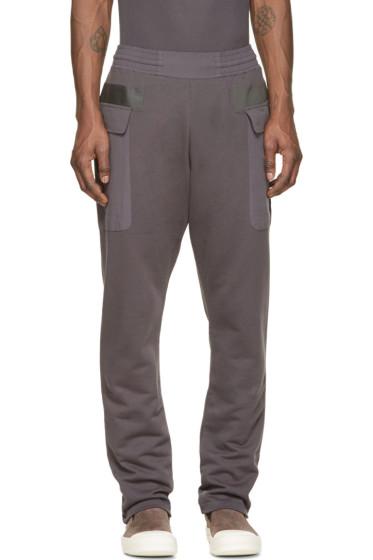 Silent by Damir Doma - Grey Paneled Pocket Plejona Lounge Pants