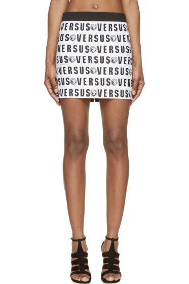 Versus - White Logo Bandage Skirt