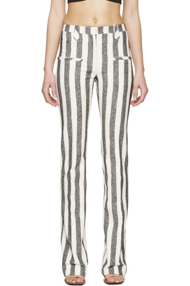 Altuzarra - Black & Ivory Striped Trousers