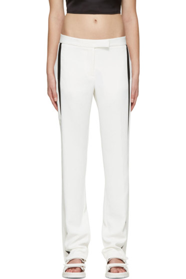 Dion Lee - Ivory & Black Linear Loop Trousers