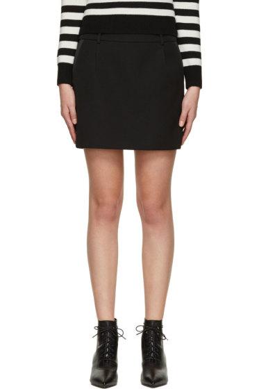 Saint Laurent - Black Wool Tuxedo Skirt