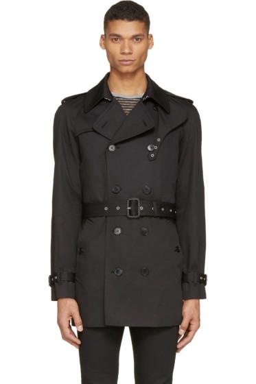 Saint Laurent - Black Classic Trench Coat