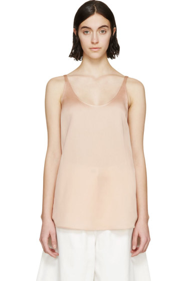 Stella McCartney - Peach Woven Silk Tank Top