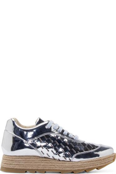 Stella McCartney - Silver Raffia Sole Sneakers