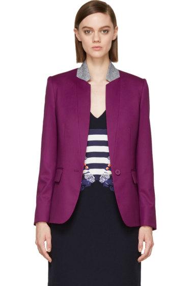 Stella McCartney - Hyacinth Violet & Heather Grey Fleur Blazer