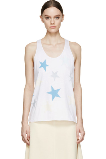 Stella McCartney - Pure White Star Print Tank Top