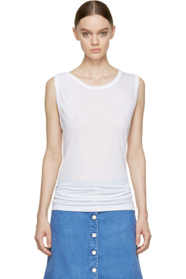 Stella McCartney - Pure White Twist Strap Tank Top