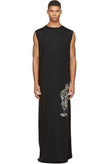 Thamanyah - Black Jersey Logo Dress
