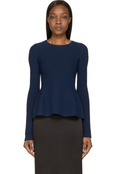 Calvin Klein Collection - Navy Tenchical Mesh Sonya Sweater