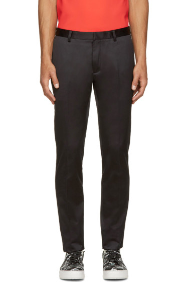 Calvin Klein Collection - Black Cotton Satin Exact Trousers