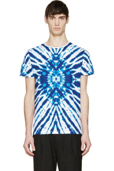 Costume National - Blue & White Paint Splash T-Shirt
