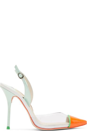 Sophia Webster - Mint Patent Leather & Vinyl Daria Heels