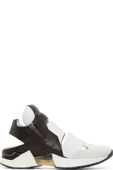 CA by Cinzia Araia - Black & White Leather Cut Out Miracle Asap Sneakers