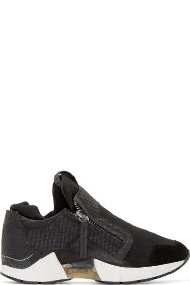 CA by Cinzia Araia - Black Snakeskin Double-Zip Asap Sneakers