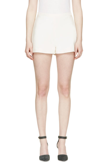 Giambattista Valli - Ivory Ladder-Seam Shorts