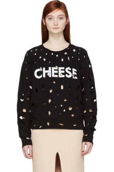 Filles a Papa - Black Swiss Cheese Sweatshirt