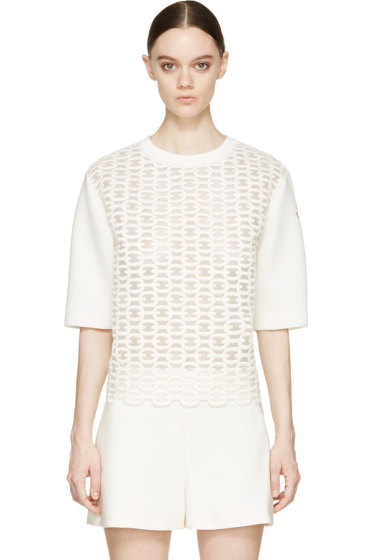 Moncler Gamme Rouge - Ivory Nautical Motif Top
