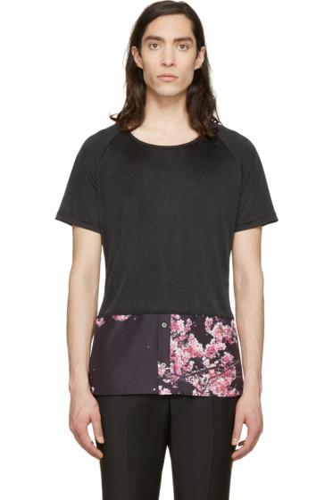 Christian Dada - Black Shirt Hem T-Shirt