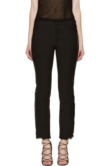 Isabel Marant - Black Leather Fringe Isiah Trousers