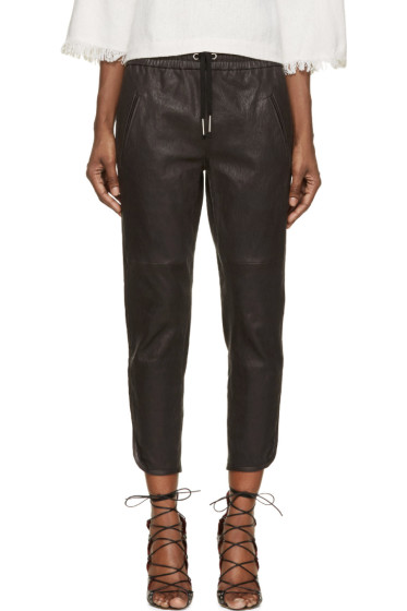 Isabel Marant - Black Stretch Leather Daniels Trousers