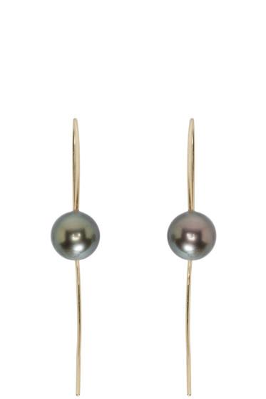 Pearls Before Swine - Tahitian Pearl Wire Drop Earrings