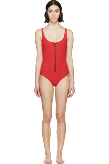 Lisa Marie Fernandez - Red Jasmine One-Piece Swimsuit