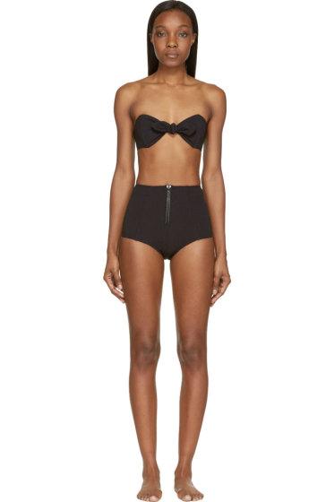 Lisa Marie Fernandez - Black High-Waisted Poppy Bikini