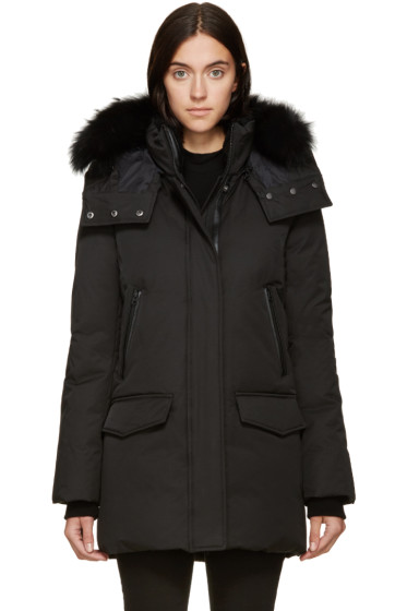 Mackage - SSENSE EXCLUSIVE Black Down & Fur Juliann Lux Coat