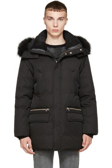 Mackage - Black Down & Fur Lux Stefano-F5 Coat