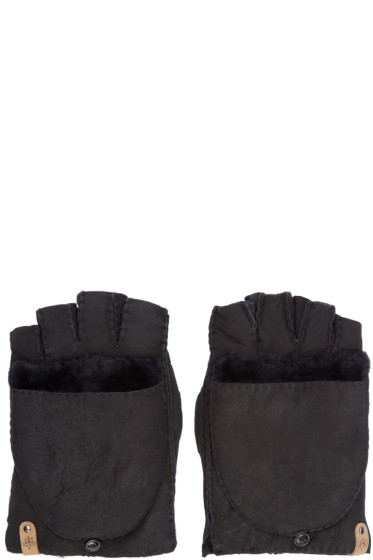 Mackage - Black Shearling Lennon Gloves