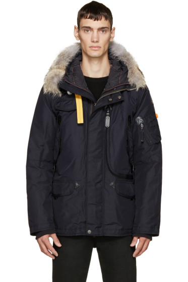 Parajumpers - Navy Down & Fur Right Hand Coat