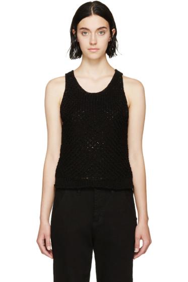 Rag & Bone - Black Crocheted Lizette Top