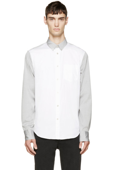 Rag & Bone - White & Grey Yokohama Shirt