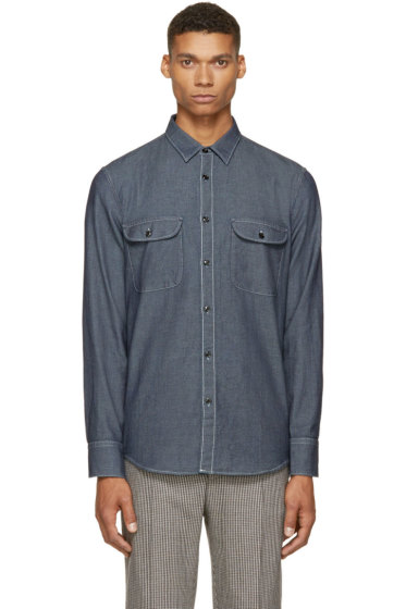 Rag & Bone - Indigo Marled Regulation Shirt