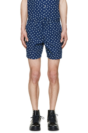 Marc by Marc Jacobs - Indigo Palm Patterned Shorts