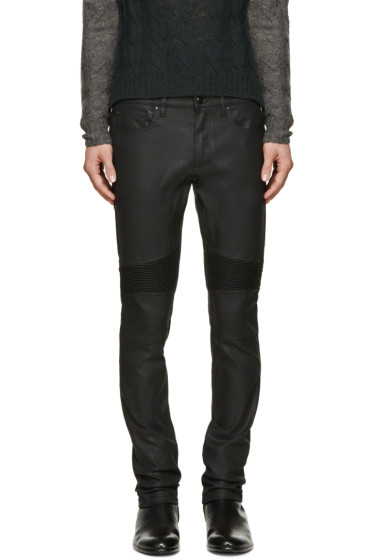 Belstaff - Black Coated Eastham Biker Jeans