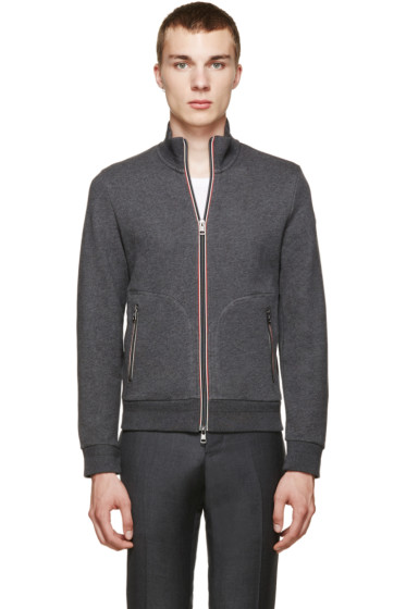 Moncler - Grey French Terry Zip-Up