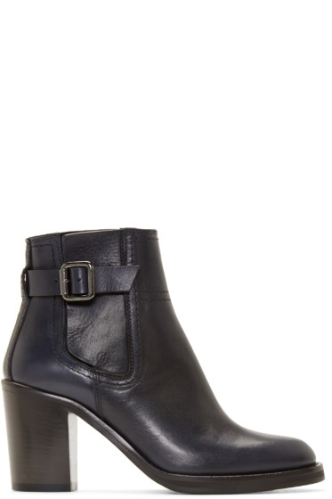 McQ Alexander Mcqueen - Navy Wick Ankle Boots