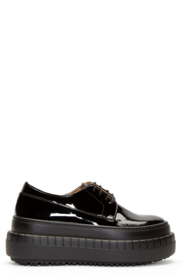 Acne Studios - Black Leather Sacha Platform Sneakers