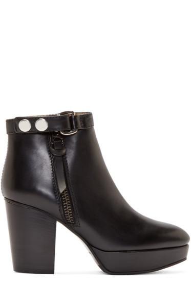 Acne Studios - Black Leather Orbit Boots